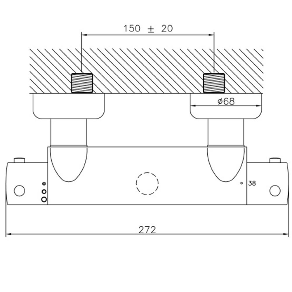 avenarius linie 430 duscharmatur thermostat 4306500010 creativbad. Black Bedroom Furniture Sets. Home Design Ideas