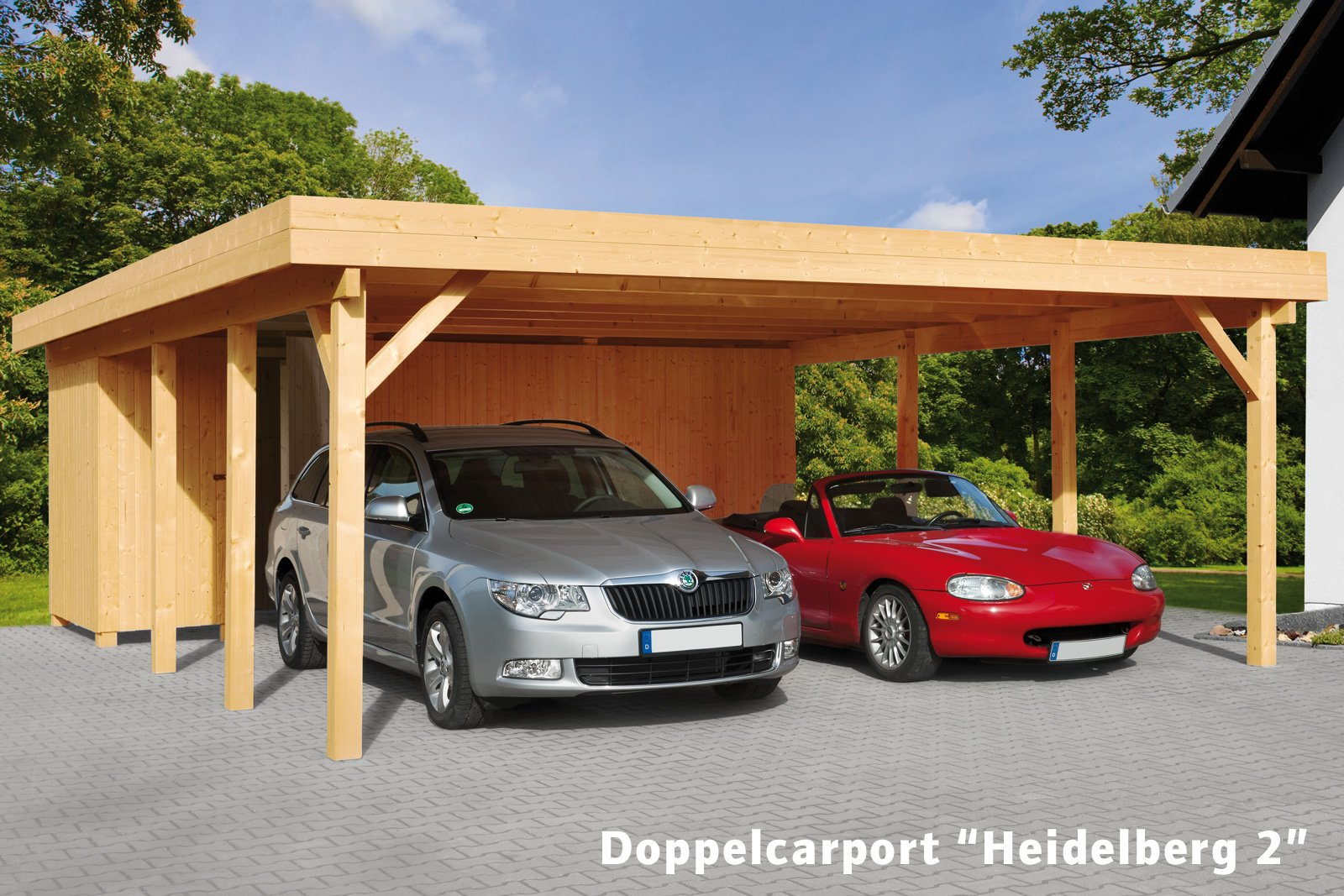 doppelcarport heidelberg 2 bauking direkt. Black Bedroom Furniture Sets. Home Design Ideas