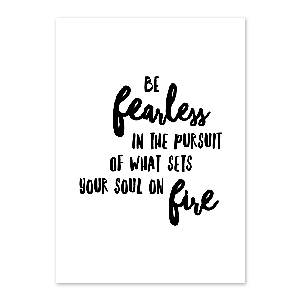 Artprint A4 ''be fearless'' |  | Artikelnummer: 18