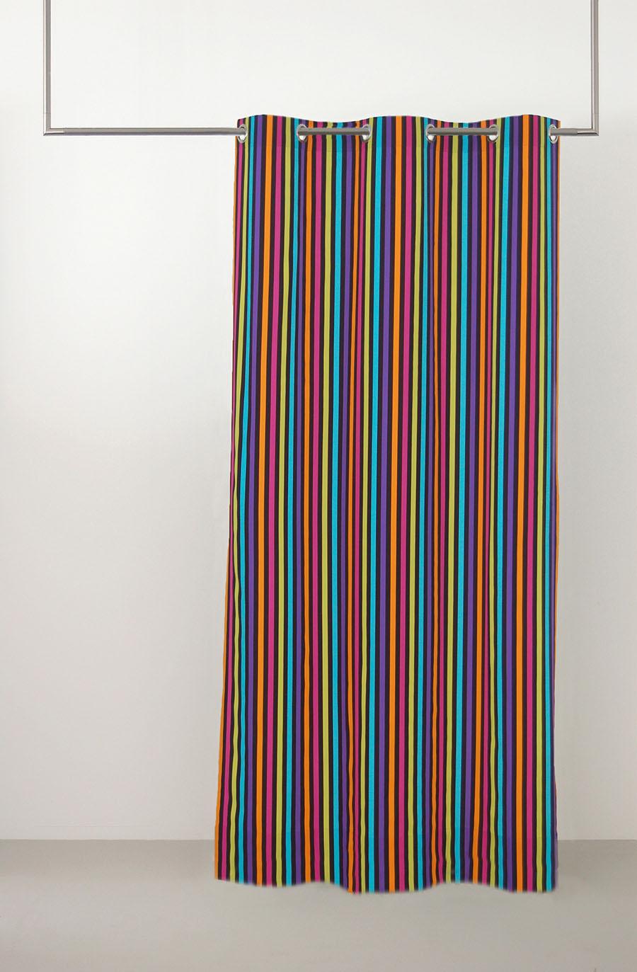 rodeo-vorhang-baumwolle-herbst mehrfarbig bunt oesenschal