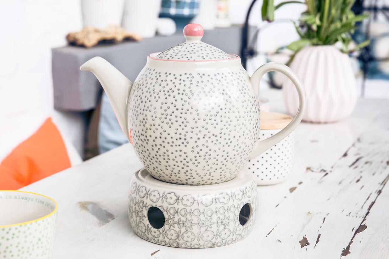 Teekanne mit Stövchen   HabundGut