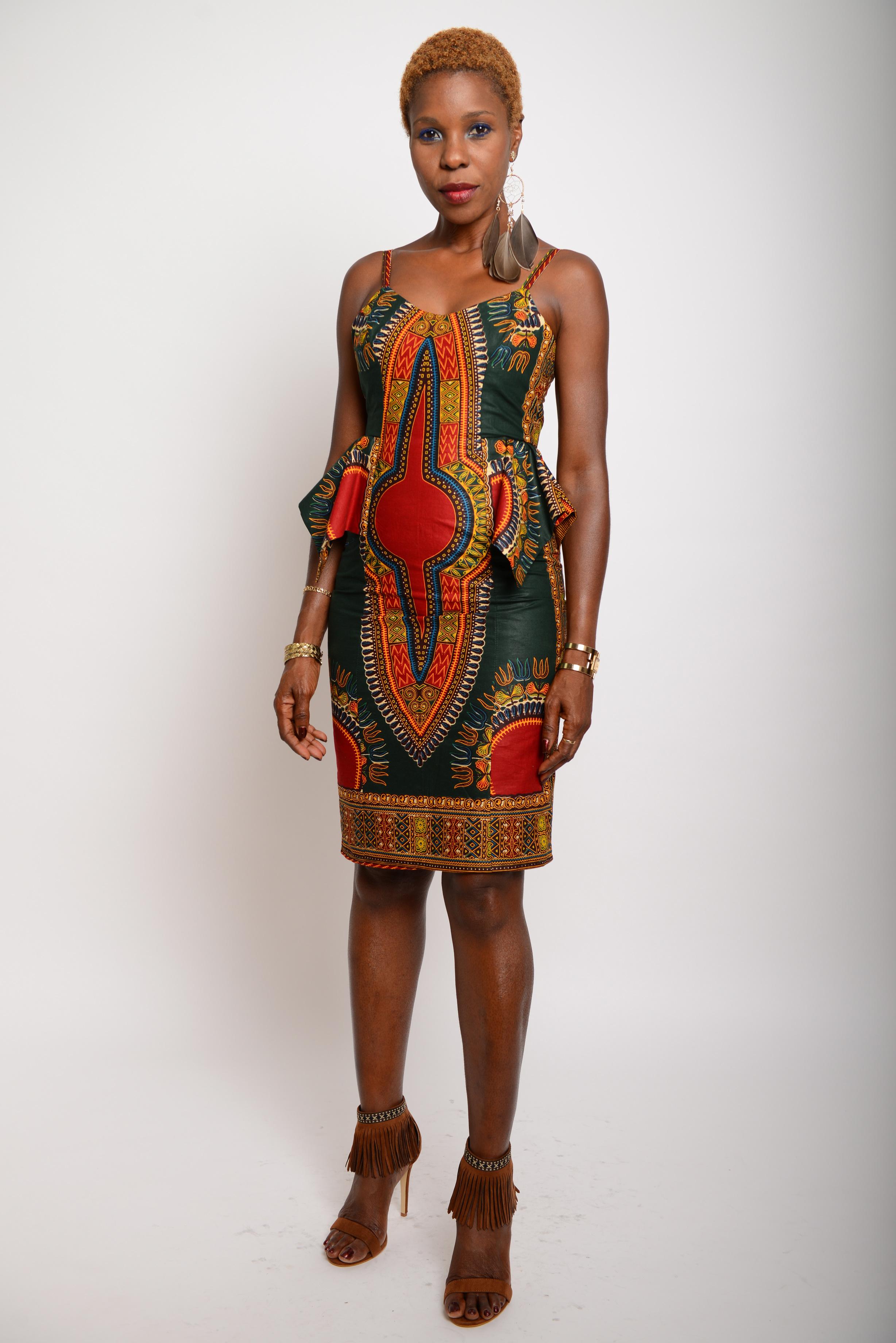 afrikanisches kleid opale