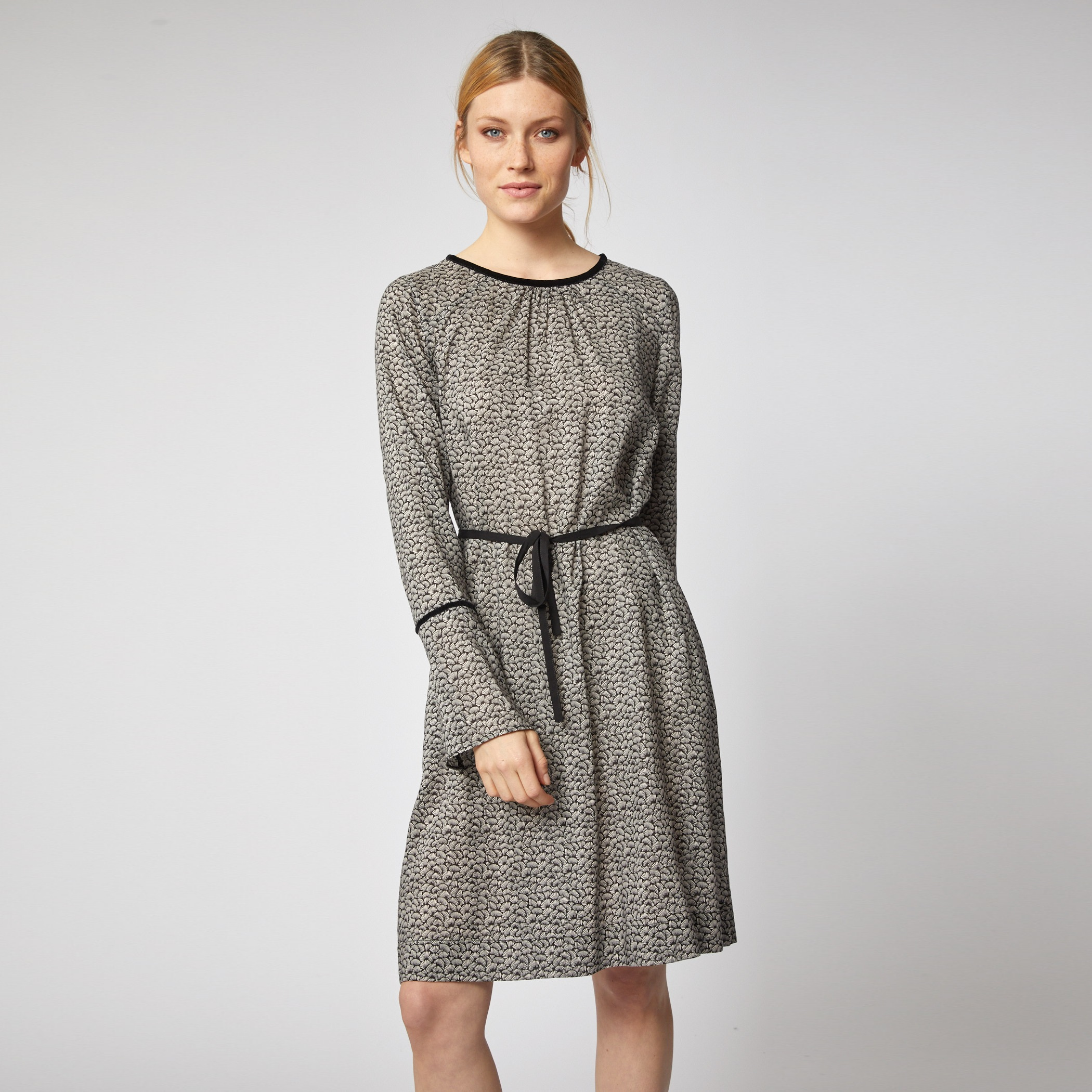 1077fe6a7ec01b Kleid aus Tencel Print Leaves - FairRoots