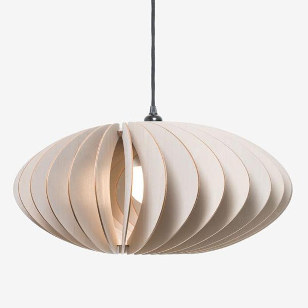iumi holzlampe nefi grau pendelleuchte aus holz made in. Black Bedroom Furniture Sets. Home Design Ideas