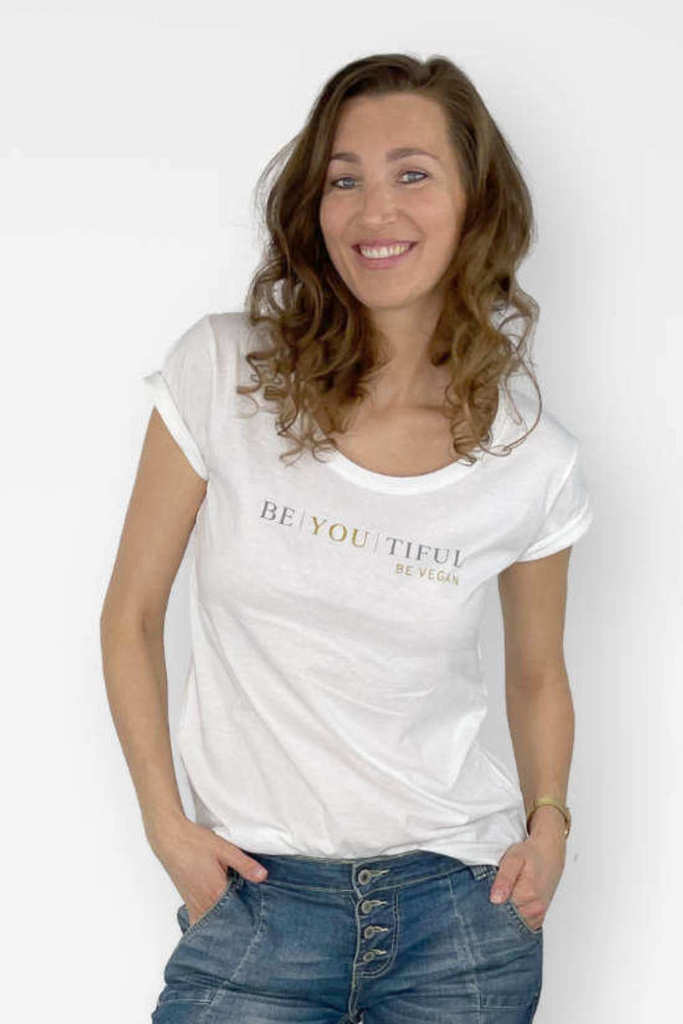 VUNDERLAND & BEAUTIFUL COMMITMENT T-Shirt BE | YOU | TIFUL weiß