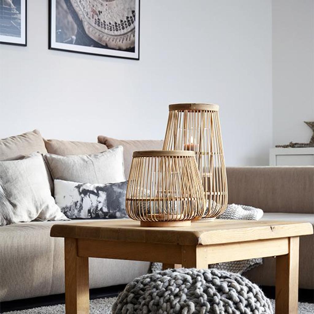 broste copenhagen windlicht cait hoch aus bambusholz. Black Bedroom Furniture Sets. Home Design Ideas