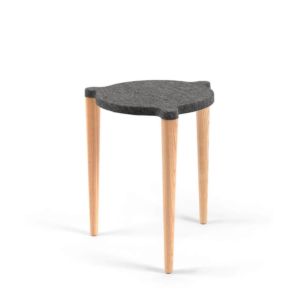 Hocker DOT skandinavisches Design grau