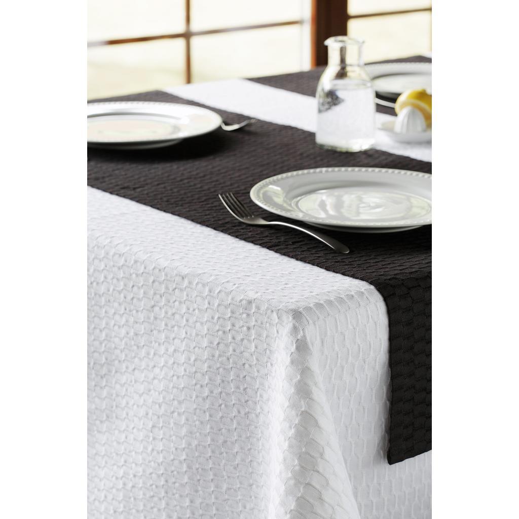 leinen tischdecke fly in wei 140x140. Black Bedroom Furniture Sets. Home Design Ideas