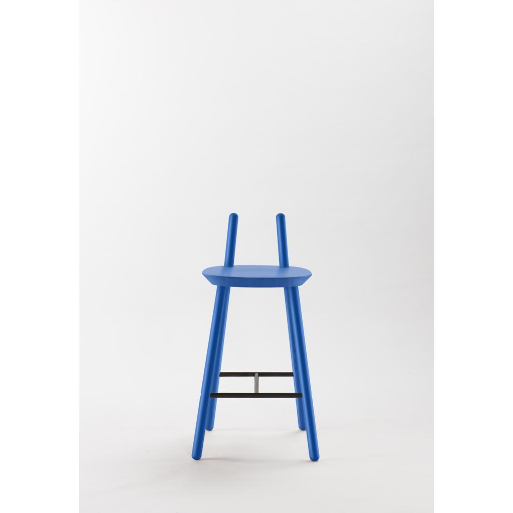 Barhocker Naïve mit Rückenlehne - blau