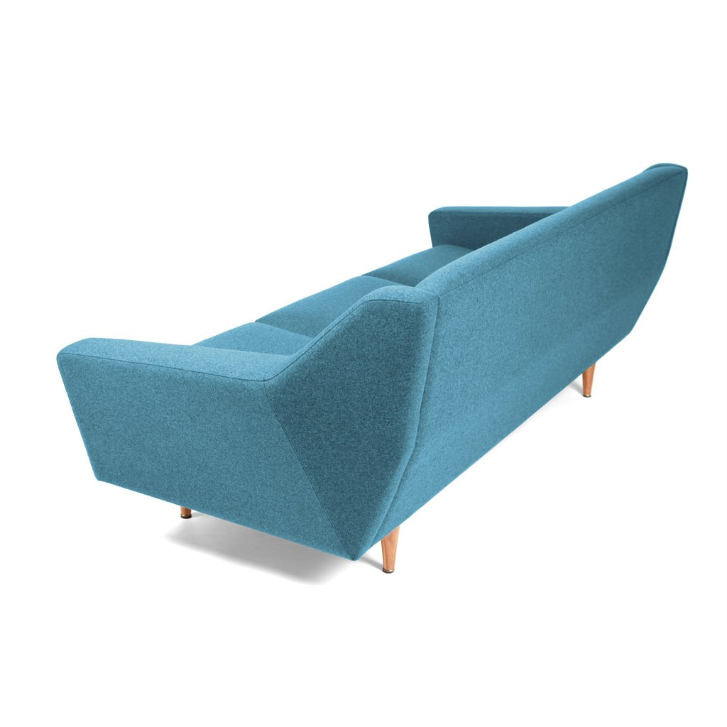 Sofa Retro Skandinavisches Design blau