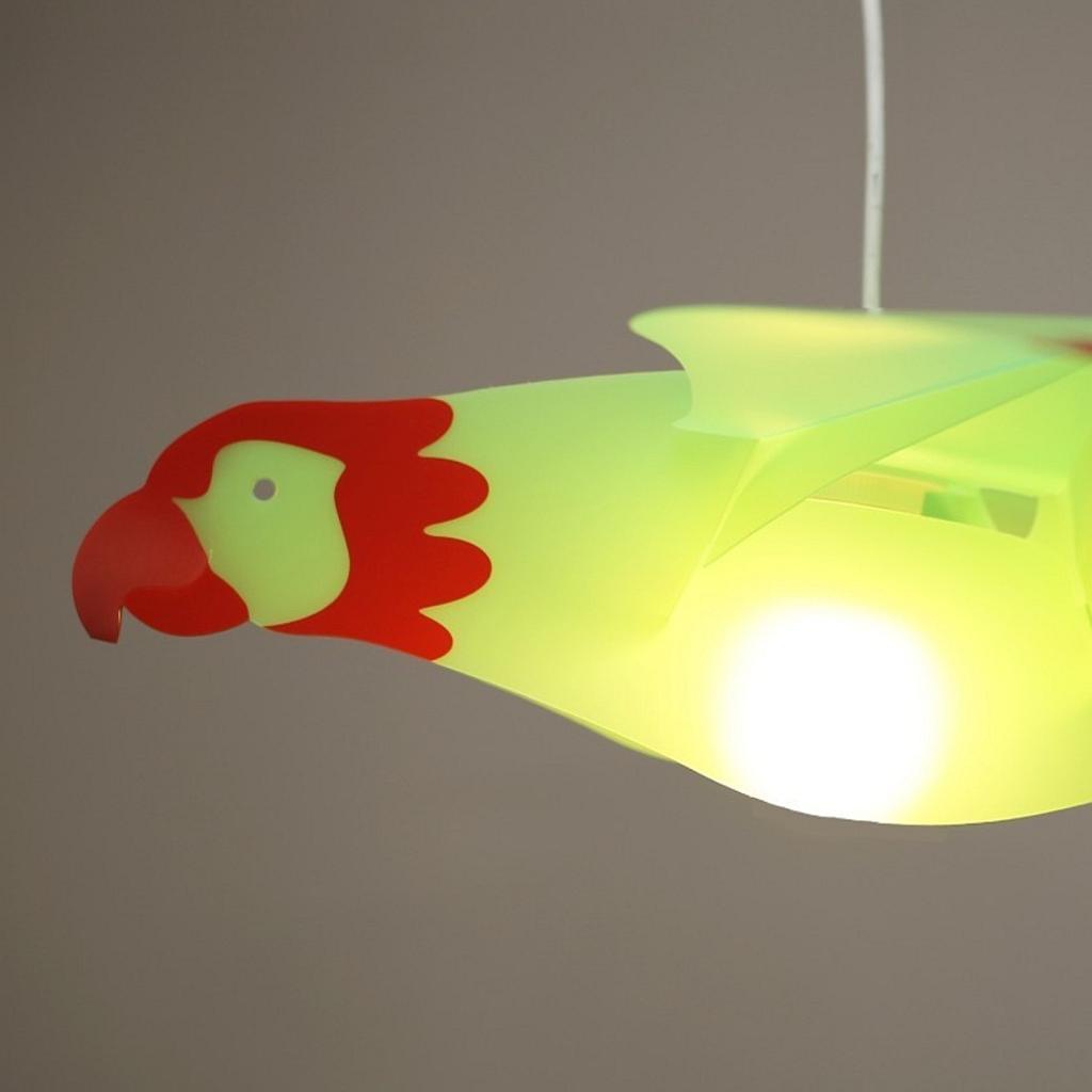 kindertr ume mit papageien als deckenleuchte f r kinderzimmer. Black Bedroom Furniture Sets. Home Design Ideas