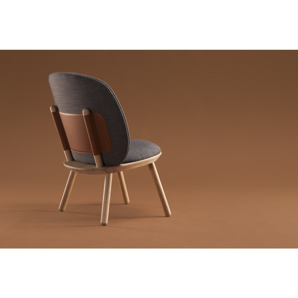 Loungesessel Naive Low Chair EMKO grau Leder