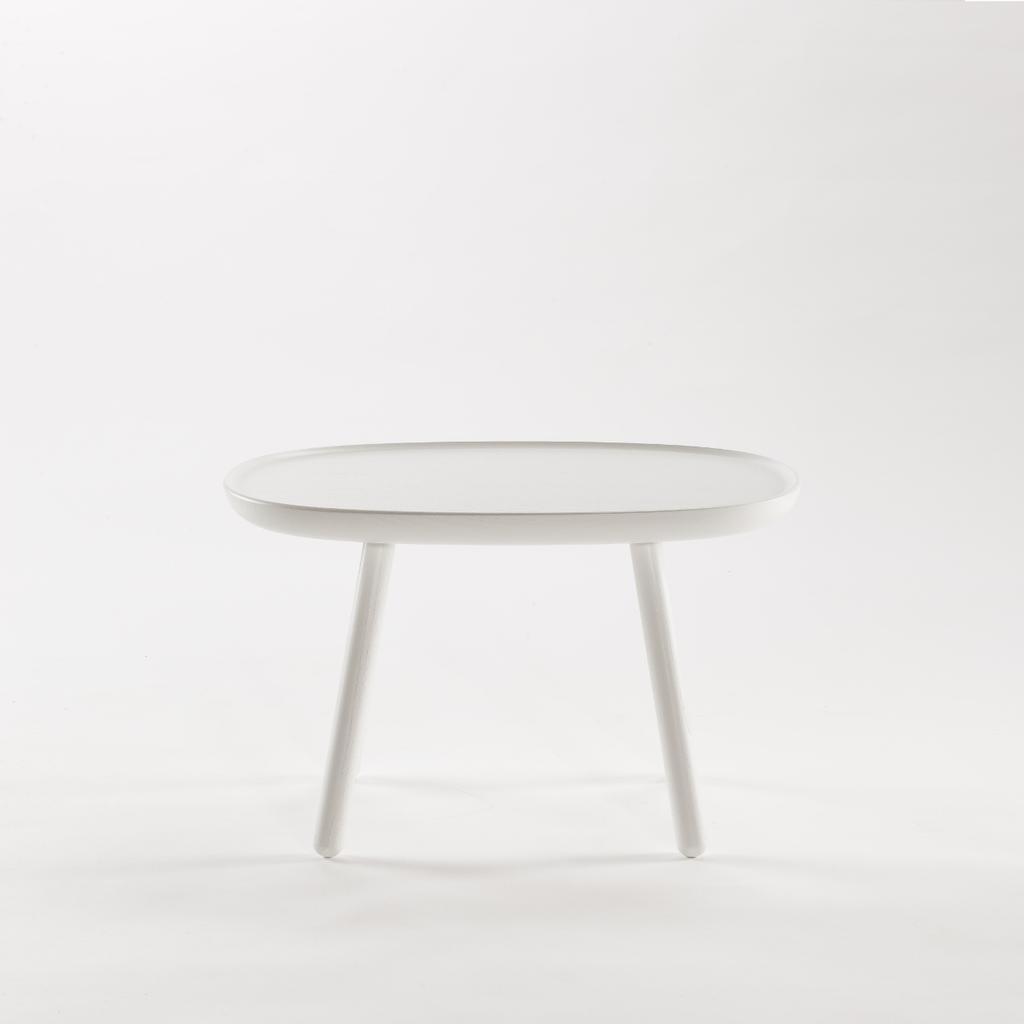 beistelltisch oval aus holz wei emko. Black Bedroom Furniture Sets. Home Design Ideas
