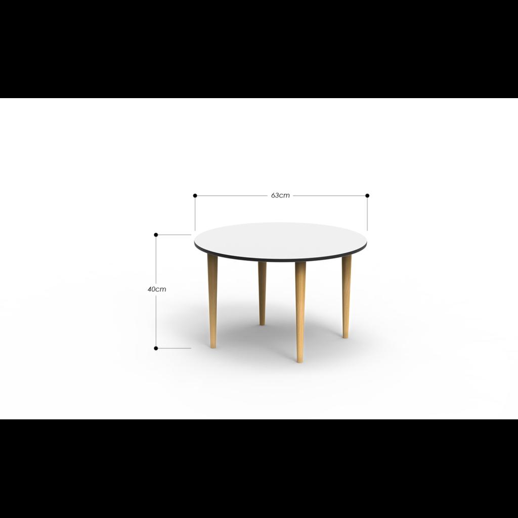 runder wohnzimmertisch in wei oot oot. Black Bedroom Furniture Sets. Home Design Ideas