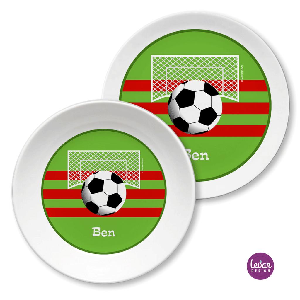 Kindergeschirr Set Fussball Taufgeschenk Geschenk Geburt