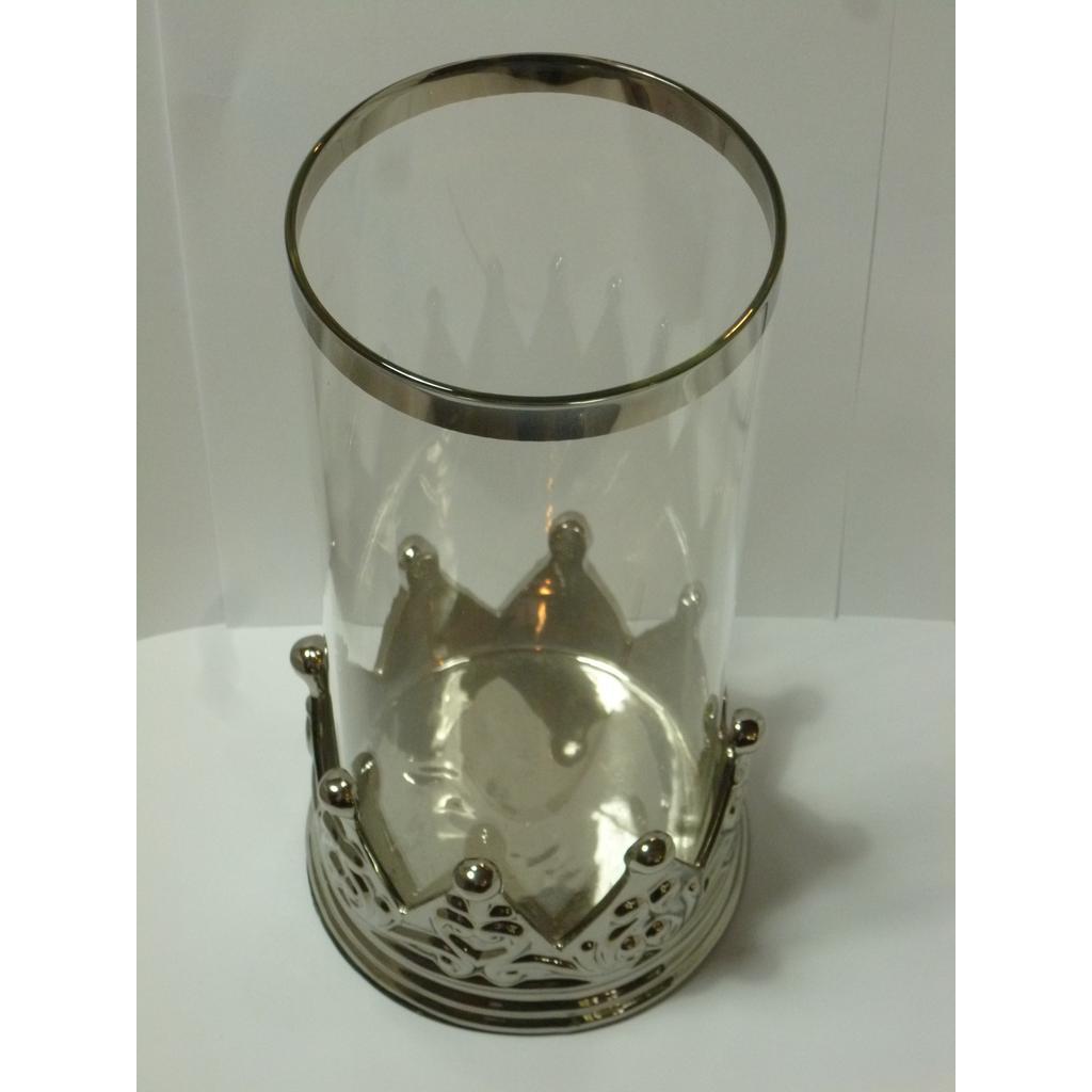 glas windlicht kerzenhalter 28cm glas windlicht windlichter kaufen verwerterkontor. Black Bedroom Furniture Sets. Home Design Ideas