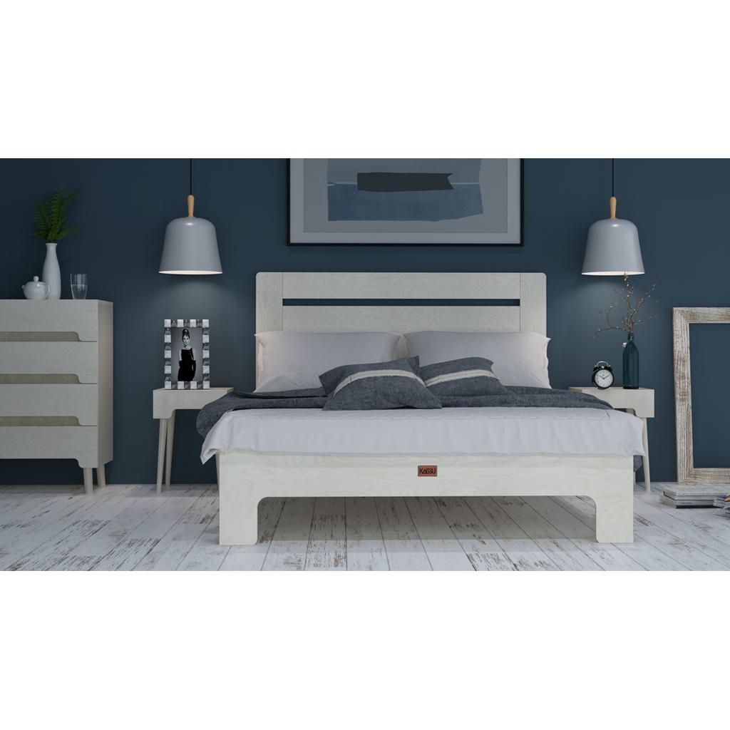 bett tu l aus massivholz in wei 180x200 cm. Black Bedroom Furniture Sets. Home Design Ideas