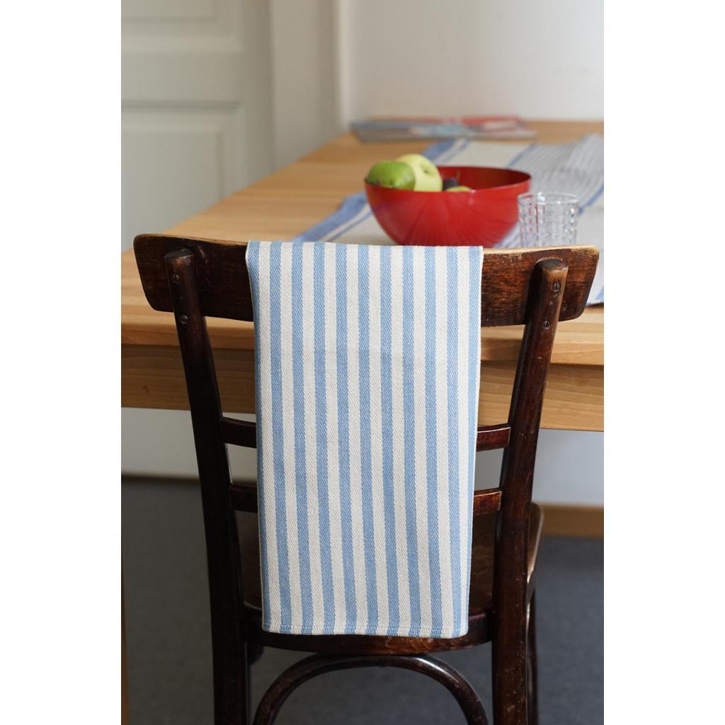 Geschirrtücher Linda aus Leinen mit blauen Streifen