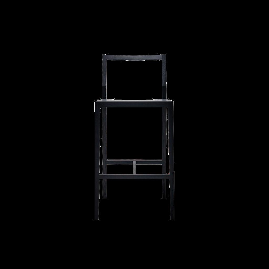 Minimalistischer barhocker in schwarz for Barhocker 86 cm