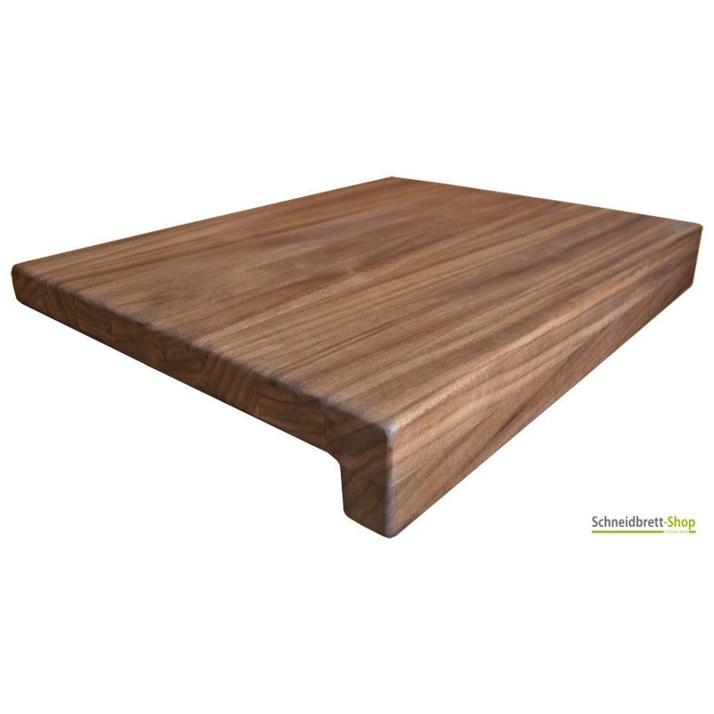 k chenbrett in nussbaum mit anschlagkante. Black Bedroom Furniture Sets. Home Design Ideas