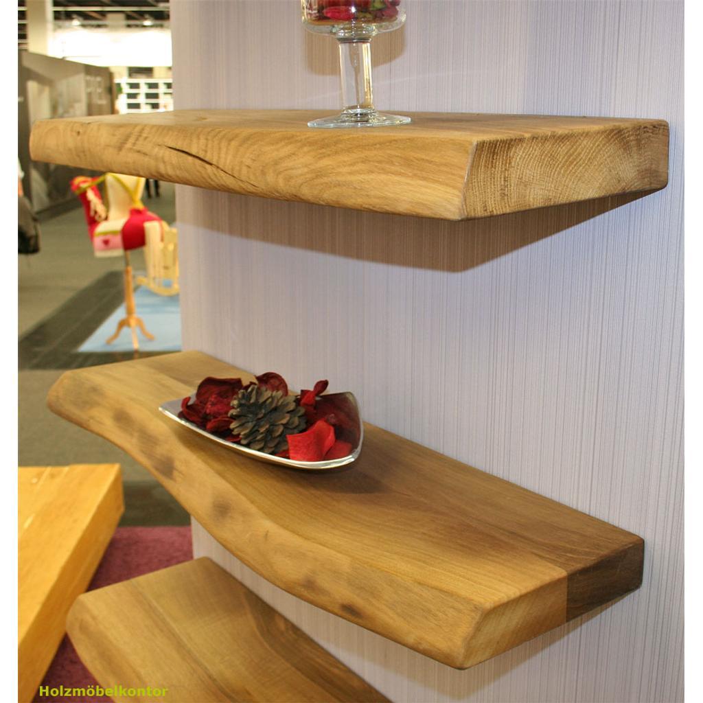 Wandboard Und Regalboard Aus Massivholz Mit Baumkante