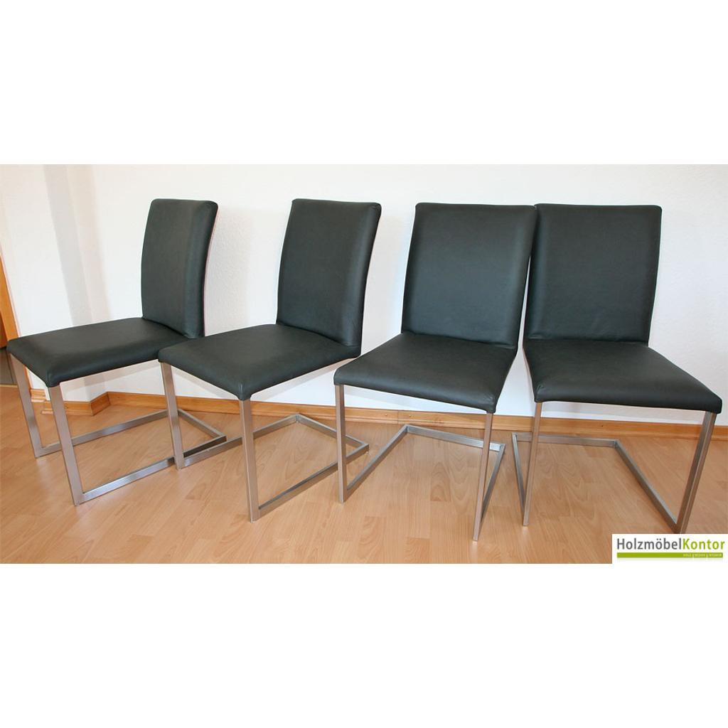 freischwinger stuhl stoff oder lederbezogen echtleder edelstahl. Black Bedroom Furniture Sets. Home Design Ideas