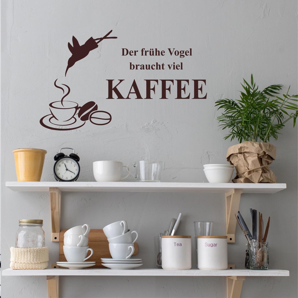 Einzigartig Wandtattoo Gräser Ideen Von Der Frühe Vogel Braucht Viel Kaffee