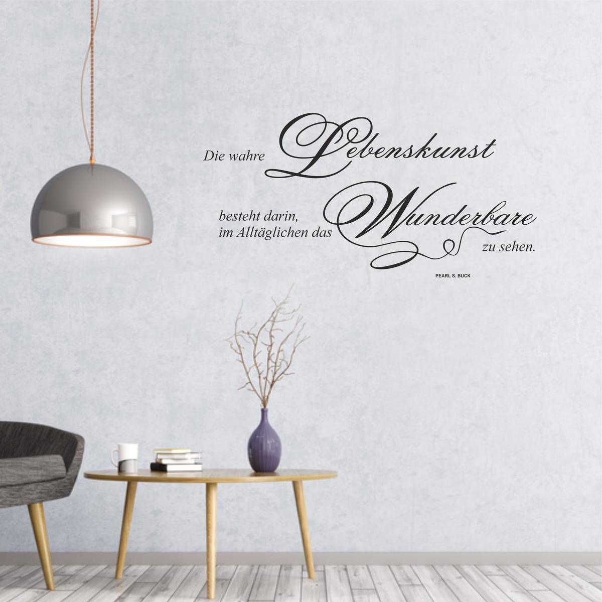 Anspruchsvoll Wandtattoo Entfernen Das Beste Von Spruch Lebenskunst Von Pearl S. Buck