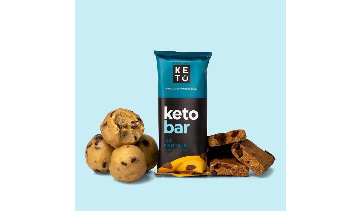 Keto Bar - der Riegel von perfect KETO  | einzelner Riegel, chocolate chip cookie dough