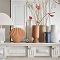 HK Living Vase matt white S