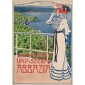 Advertising poster 1897 Winterkurort und Seebad Abbazia