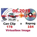 Renault CAN Clip V178 + Reprog 164 (06/2018) , VM-WARE Virtualbox Windows 7 bis Windows 10 32 & 64bit