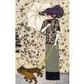 Fashion postcard with dogs Wiener Werkstätte Postcard No. 519