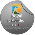 Royal IPTV Subscription 12 Months x 4+1 Free