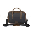 Par Avion Laptoptasche 15 - waxed denim / leather