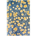 Marmorpapier Goldene Kreise / Marbled Wrapping Paper Golden Circles