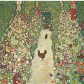 Gustav Klimt, GARDEN PATH WITH CHICKENS