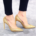 PUMPS, oro-cold champagne