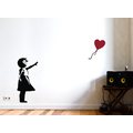 XXL Banksy Balloon Girl Wall Art