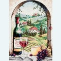 Dreaming of Tuscany - borduurpakket met telpatroon Dimensions