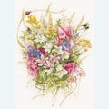 Summer Flowers by Marjolein Bastin - borduurpakket met telpatroon Lanarte