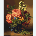 Vase of  Roses and Flowers - kruissteekpakket met telpatroon Luca-S