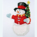 Merry Snowman - Borduurpakket met telpatroon Orcraphics