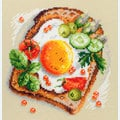 Fried Eggs Toast - borduurpakket met telpatroon - Magic Needle