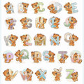 Teddy Bears Alphabet - borduurpakket met telpatroon Luca-S