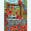 Poppy Field - Diamond Painting pakket - Diamond Art