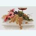 Flowers and Grapes - borduurpakket met telpatroon Luca-S