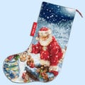 Santa Stocking - borduurpakket met telpatroon Luca-S