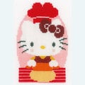 Set van 3 - Hello Kitty - At the Bakery - borduurpakketten met telpatroon Vervaco