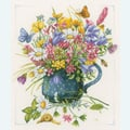 Meadow Flowers in Vase by Marjolein Bastin - borduurpakket met telpatroon Lanarte